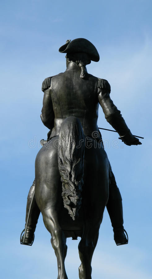 Washington statue in Boston royalty free stock photography