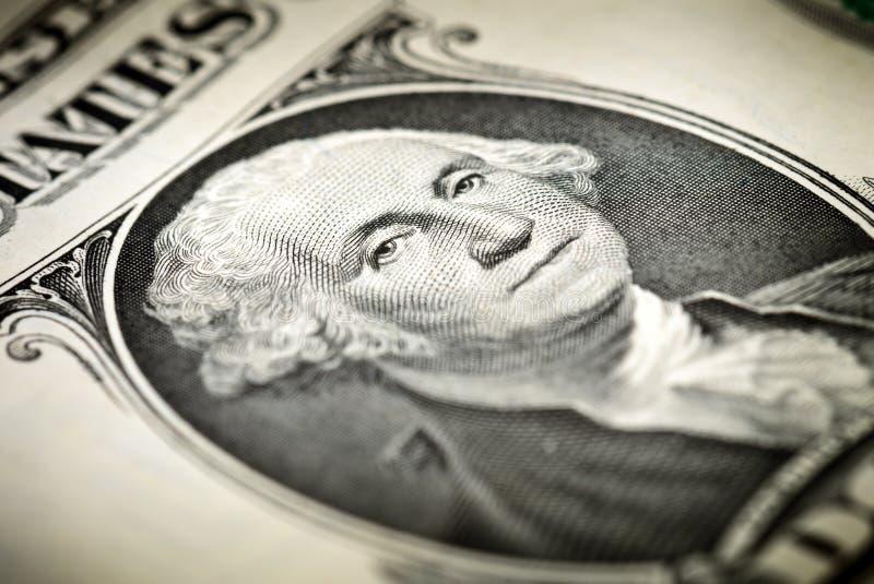 Washington sur un billet d'un dollar image stock