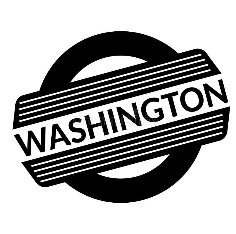 Washington svartstämpel royaltyfri illustrationer