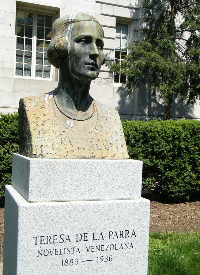 Washington Teresa De La Parra Sculpture 2010. Bust of Teresa de la Parra at the Organization of American States in Washington DC royalty free stock photos