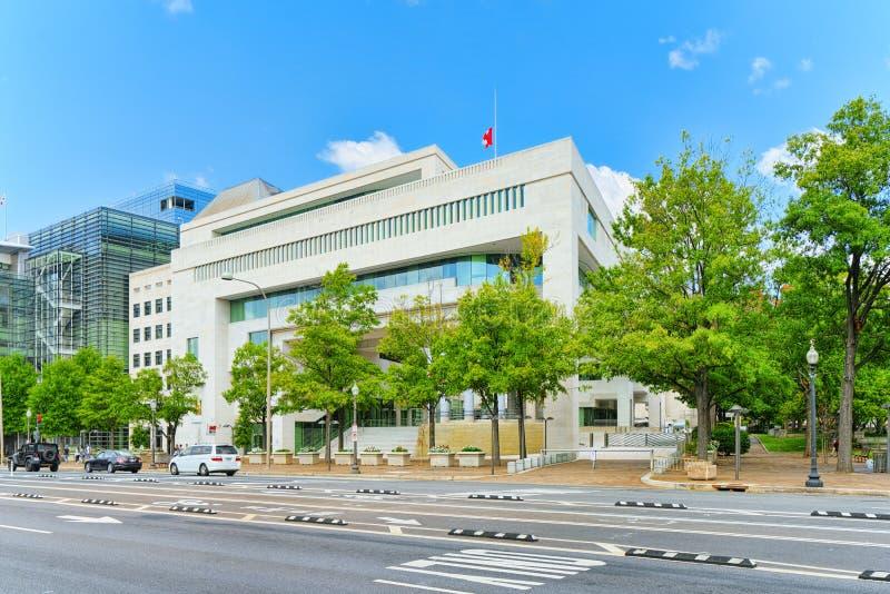 Washington, U.S.A., ambasciata del Canada in U.S.A. fotografie stock libere da diritti