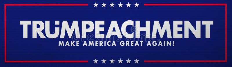 WASHINGTON, UNITED STATES, 24 September 2019 - Illustration idea for the impeachment of President Trump. royalty free illustration