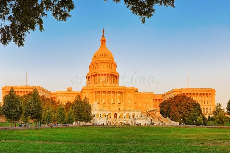 Washington USA, Förenta staternaKapitolium, kallade ofta Kapitolium arkivbild