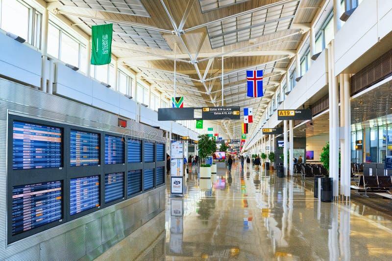Washington, USA, Innenraum, innerhalb internationalen Flughafens Dulles lizenzfreie stockbilder