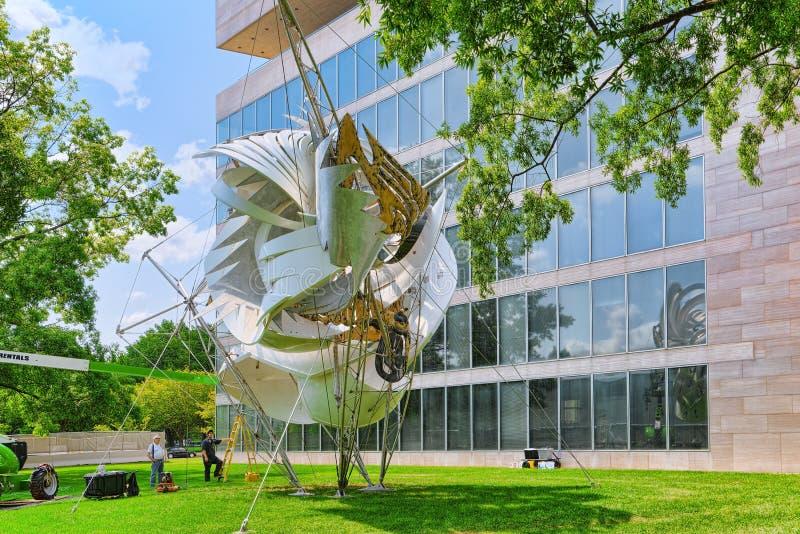Washington, USA, künstlerische Installation vor Art Research stockfoto