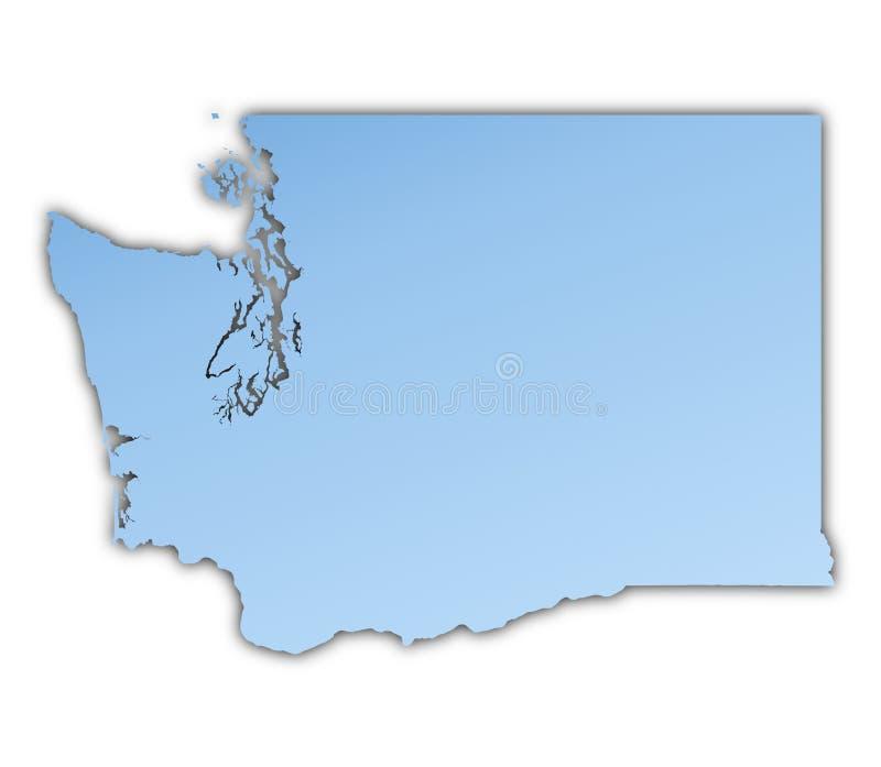 Washington(USA) map royalty free illustration