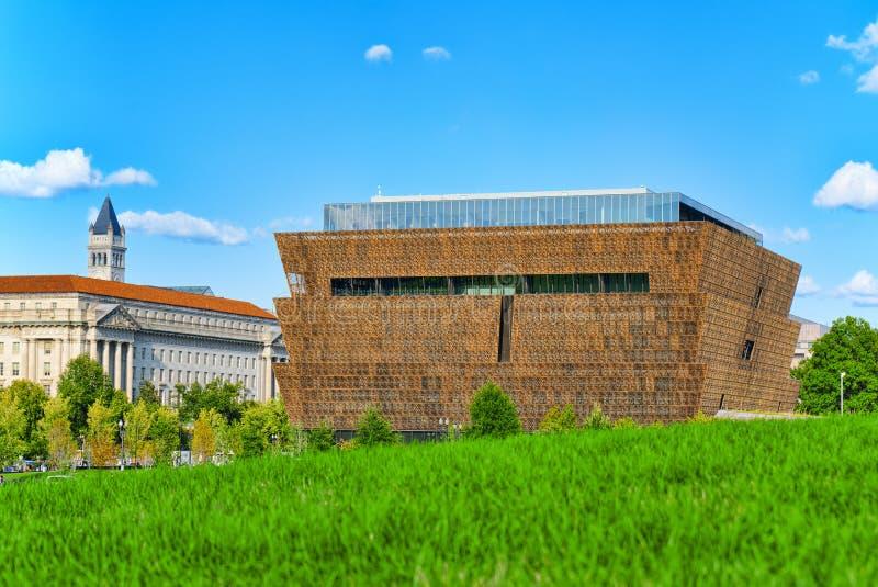 Washington USA, nationellt museum av afrikansk amerikanhistoria och royaltyfri foto