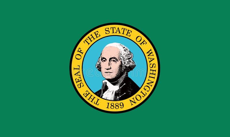 Washington USA statflagga vektor illustrationer