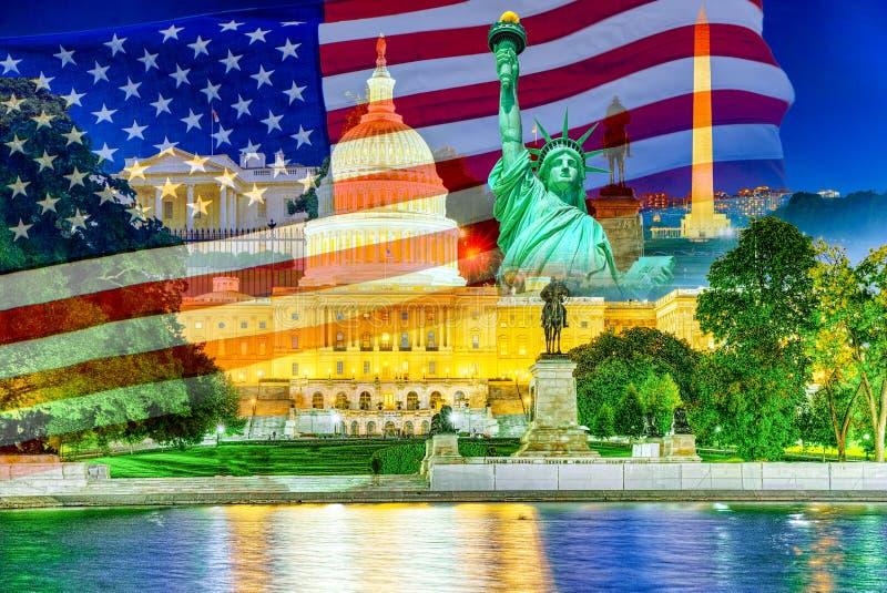 Washington, USA, United States Capitol, Ulysses S. Grant Memorial royalty free stock image