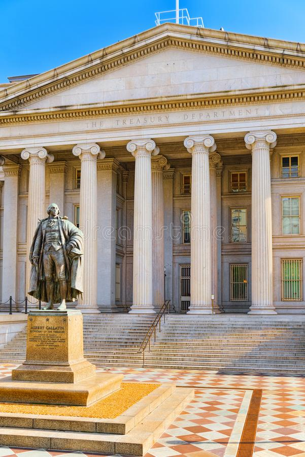 Washington, USA, US Treasury Department and Inspector General Of royalty free stock photo