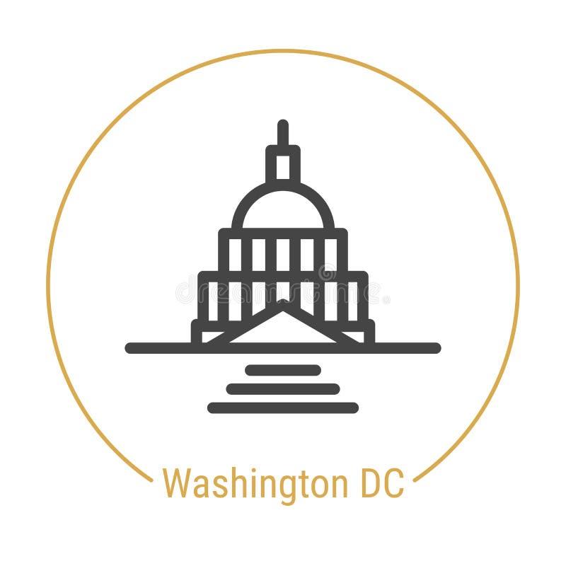 Washington, Vereinigte Staaten Vector Linie Ikone lizenzfreie abbildung