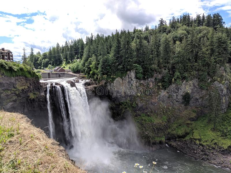 Washington Waterfall Landscape royaltyfria bilder