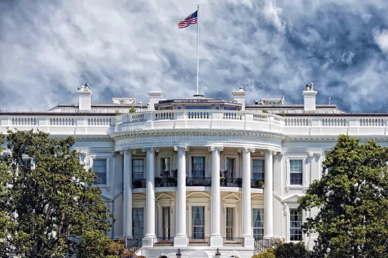 Washington White House am sonnigen Tag stockfotografie