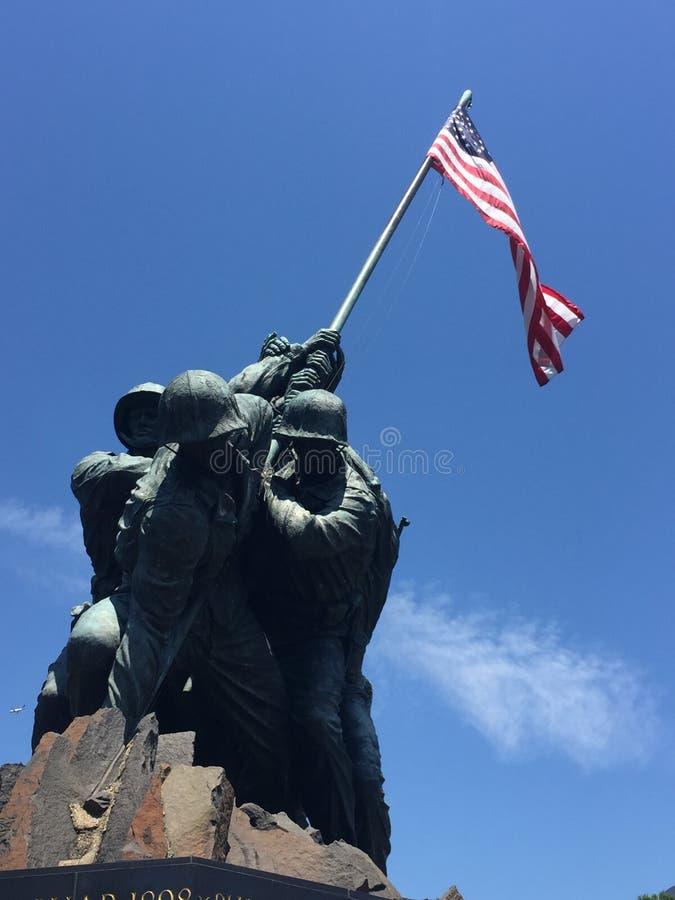 Washington y sus soldados foto de archivo