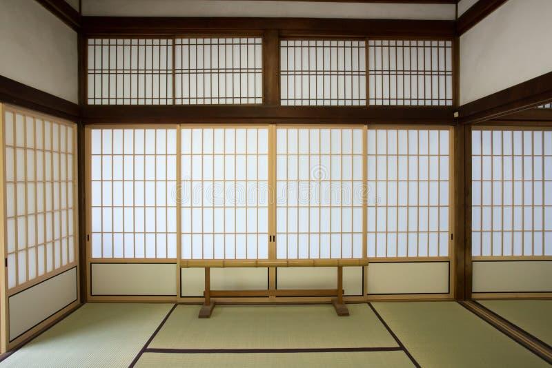 Washitsu room. Japanese style study room with wall painting, Tenryu-ji temple, Kyoto Japan stock images