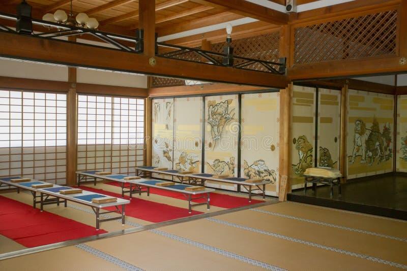 Washitsu room. Japanese style study room with wall painting, Tenryu-ji temple, Kyoto Japan, May 15,2014 stock photography