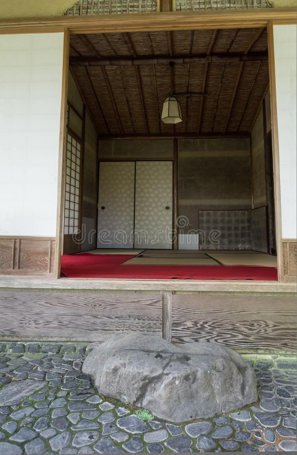 Washitsu room, Japanese style room with tatami mat. Japan stock images