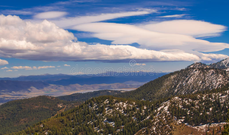 Washoe Valley from Carson Range stock images