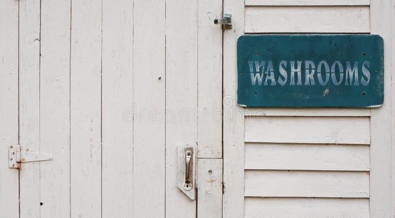 Washroom Door stock photography