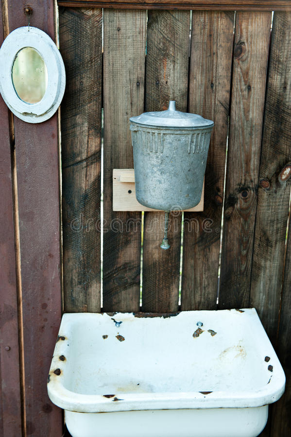 Washstand velho fotos de stock