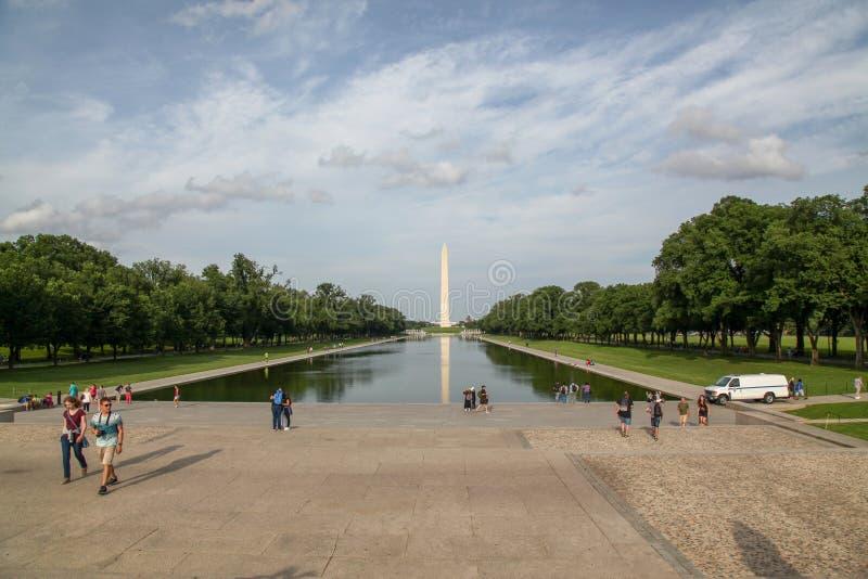 Washungton D C , U.S.A.-giugno 14,2018 - obelisc del monumento di Washington del paesaggio in U.S.A. immagine stock libera da diritti
