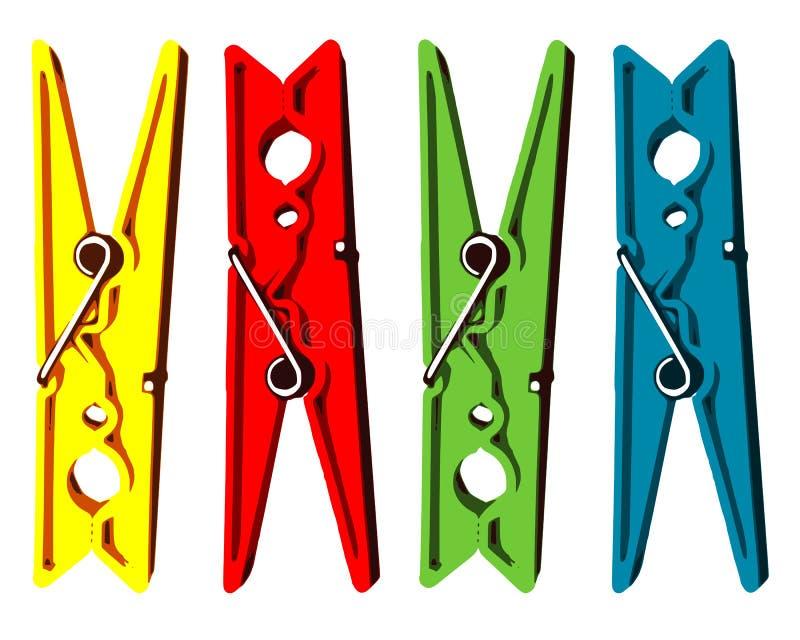 Wasknijpers stock afbeelding