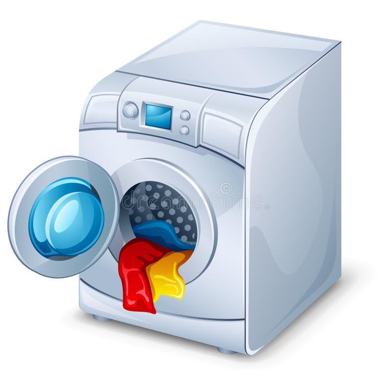 Wasmachine royalty-vrije illustratie