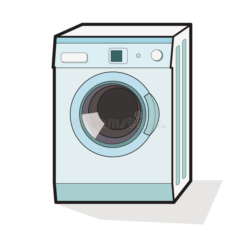 Wasmachine vector illustratie