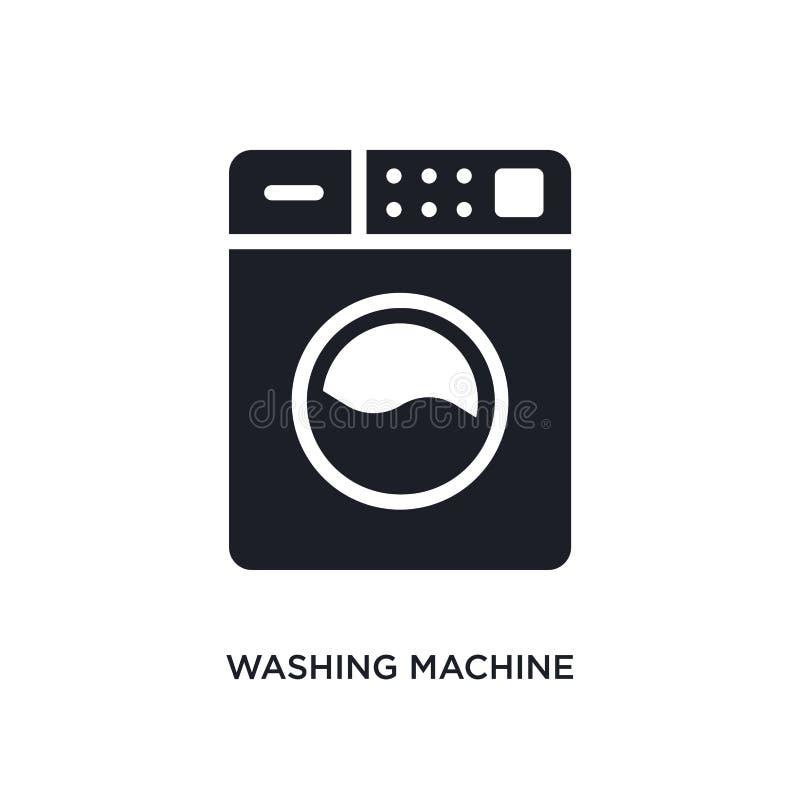 wasmachine geïsoleerd pictogram eenvoudige elementenillustratie van het schoonmaken van conceptenpictogrammen het tekensymbool va stock illustratie