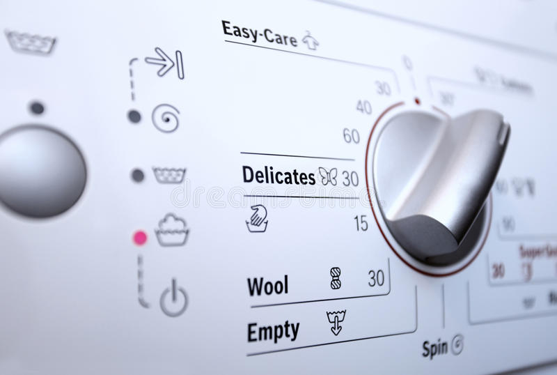 Wasmachine met controlebord royalty-vrije stock foto's
