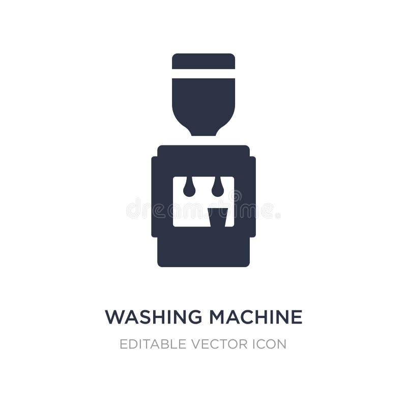 wasmachine met waterpictogram op witte achtergrond Eenvoudige elementenillustratie van Algemeen concept royalty-vrije illustratie