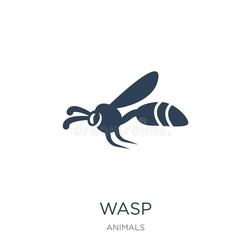 wasp icon in trendy design style. wasp icon isolated on white background. wasp vector icon simple and modern flat symbol for web vector illustration