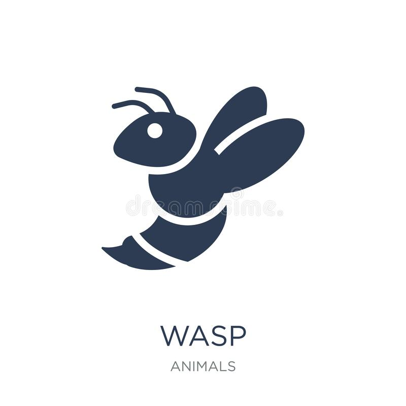 Wasp icon. Trendy flat vector Wasp icon on white background from. Animals collection, vector illustration can be use for web and mobile, eps10 royalty free illustration