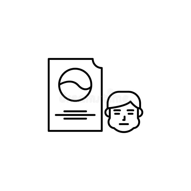 Waspoeder, allergisch pictogram Element van problemen met allergieënpictogram Dun lijnpictogram voor websiteontwerp en ontwikkeli royalty-vrije illustratie