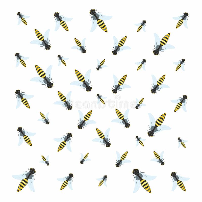 Wasps - pattern. This is an illustration of one of the aggressive insects on the association with the attack, defense, impudence, aggression vector illustration