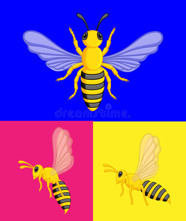 Wasps Vector. Cartoon Wasps Insect Vector Illustration stock illustration