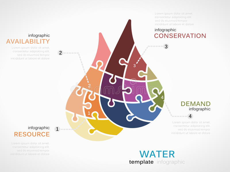 Wasser stock abbildung