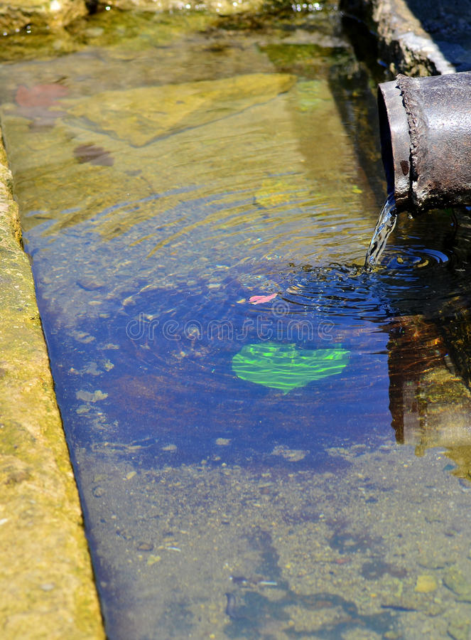 Wasser-Abflussrohr stockbild