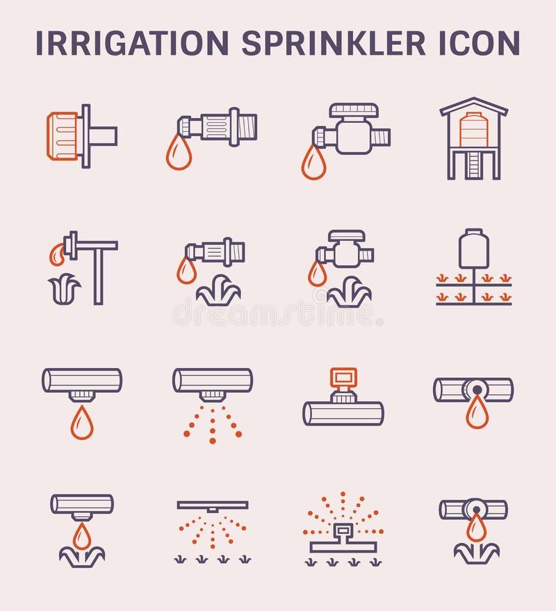 Wasser-Berieselungsanlagen-Ikone lizenzfreie abbildung