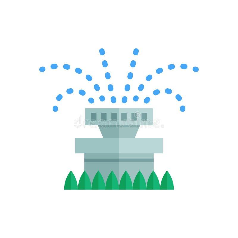 Wasser-Berieselungsanlagen-Ikone vektor abbildung