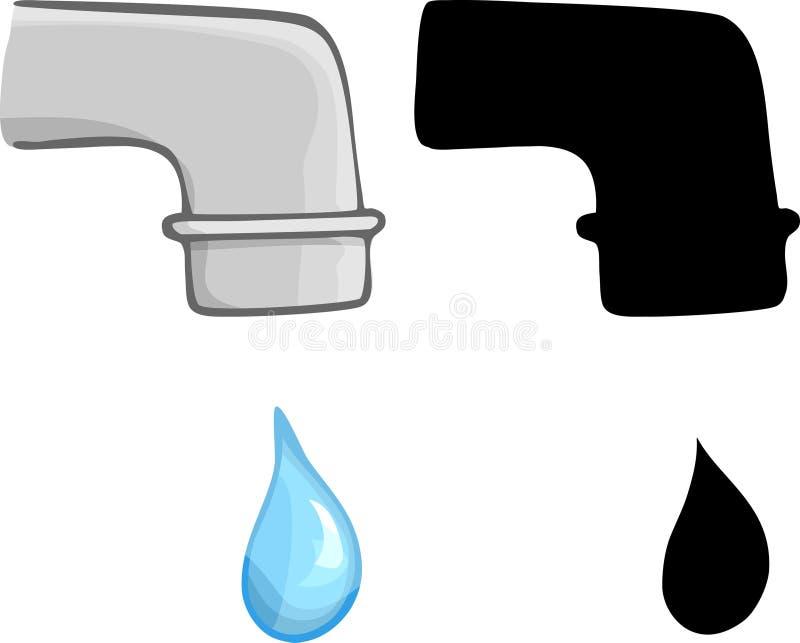 Wasser-Bratenfett lizenzfreie abbildung