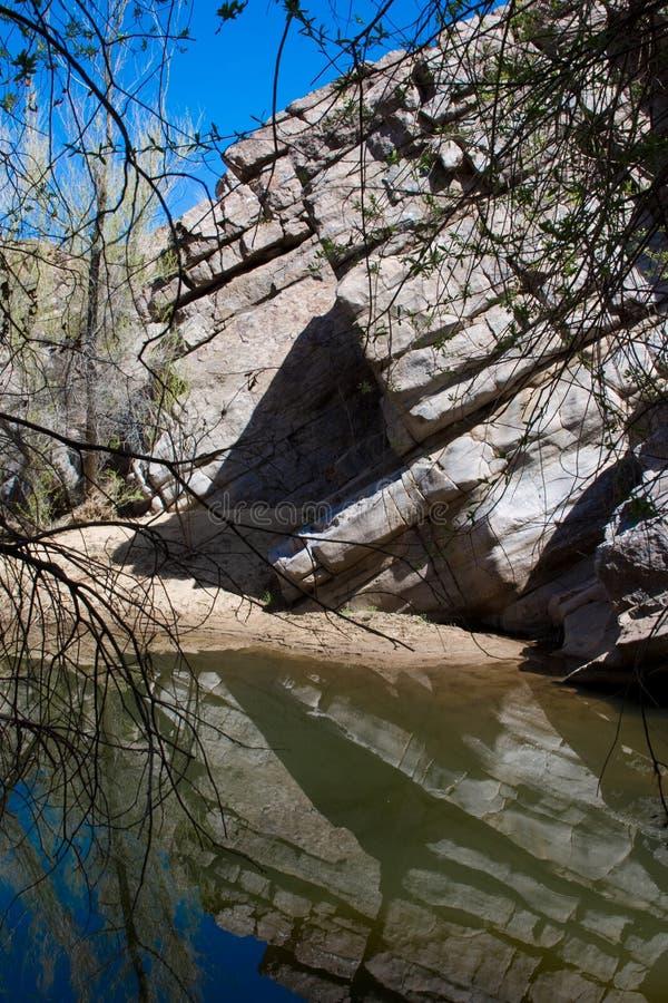 Wasser, das Arizona-Schlucht füllt lizenzfreie stockfotografie