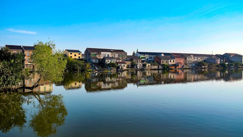 Wasser-Dorf stockfotografie