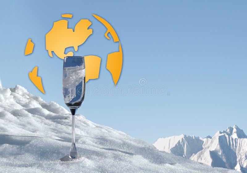 Wasser für alle, die globale Erwärmung und blaues Gold lizenzfreies stockfoto