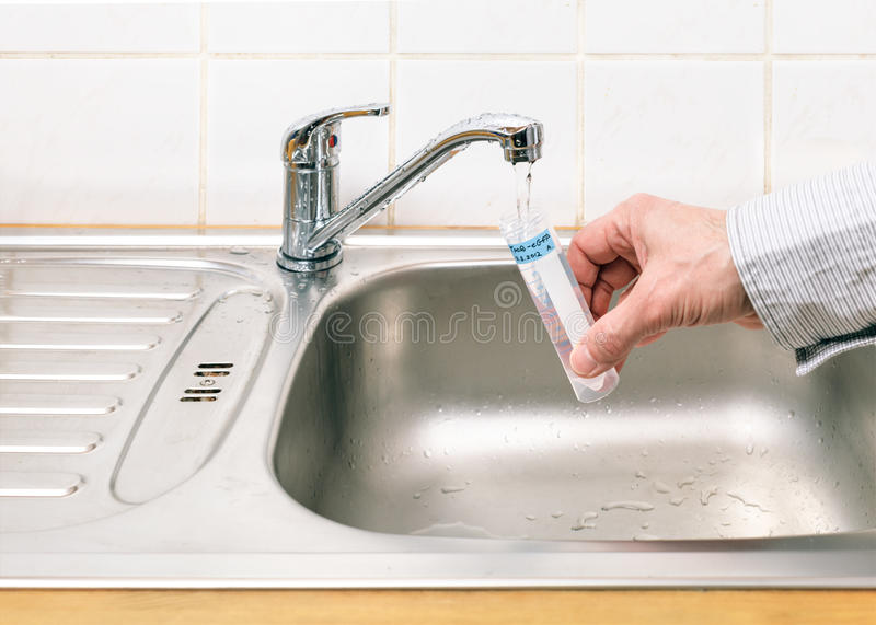 Wasser für Analyse stockbilder