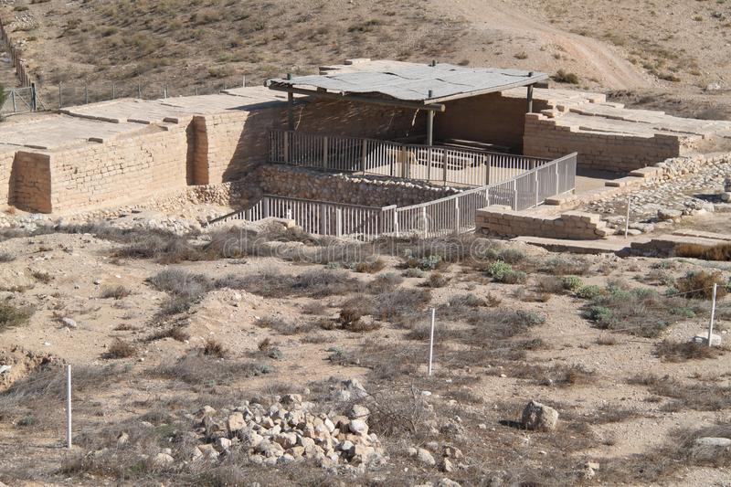 Wasser-Fabrik-Ruinen, Telefon-Bier Sheva, Israel stockbild