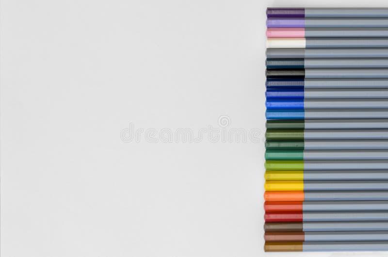 Wasser-Farbbleistifte 02 lizenzfreies stockfoto