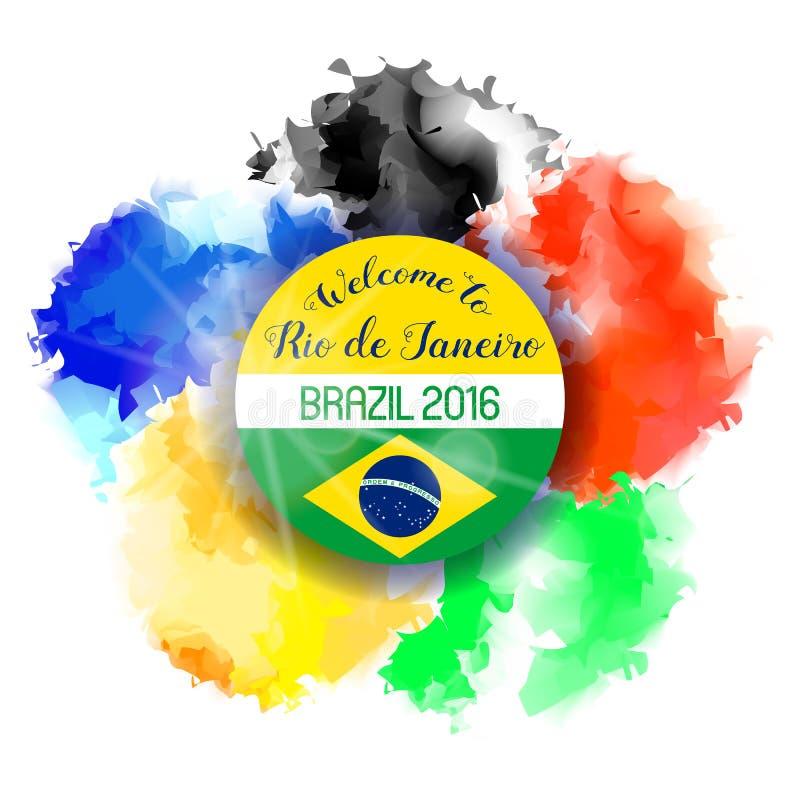 Wasser-Farbhintergrund Brasilien-Sommer-2016 lizenzfreie abbildung
