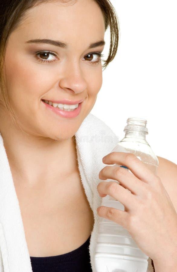Wasser-Flaschen-Frau stockfotografie