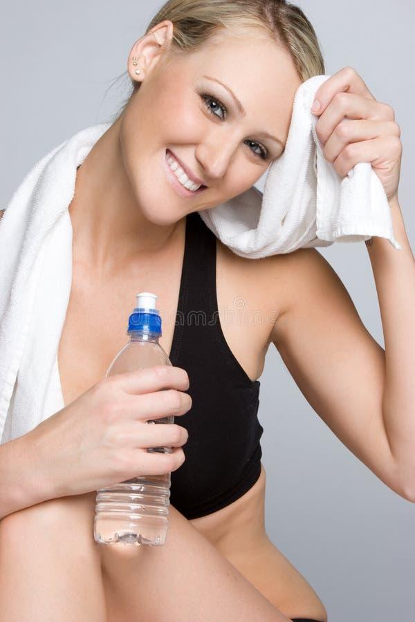 Wasser-Flaschen-Mädchen lizenzfreies stockbild